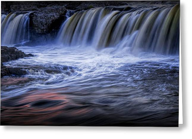 Randy Greeting Cards - Waterfalls at Dusk Greeting Card by Randall Nyhof