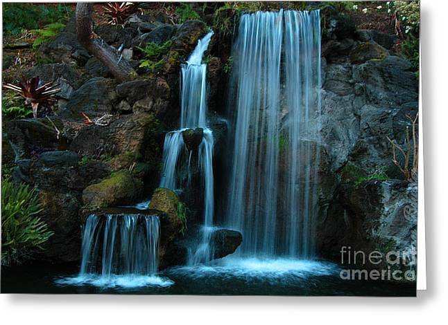Waterfalls Greeting Card by Clayton Bruster