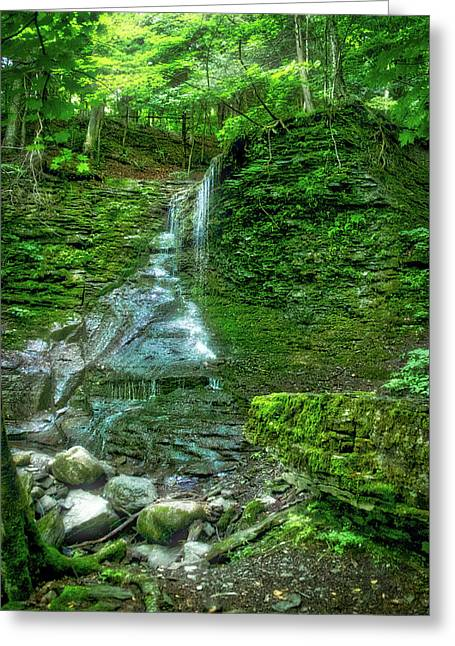 Waterfalls Finger Lakes New York 01 Greeting Card by Thomas Woolworth