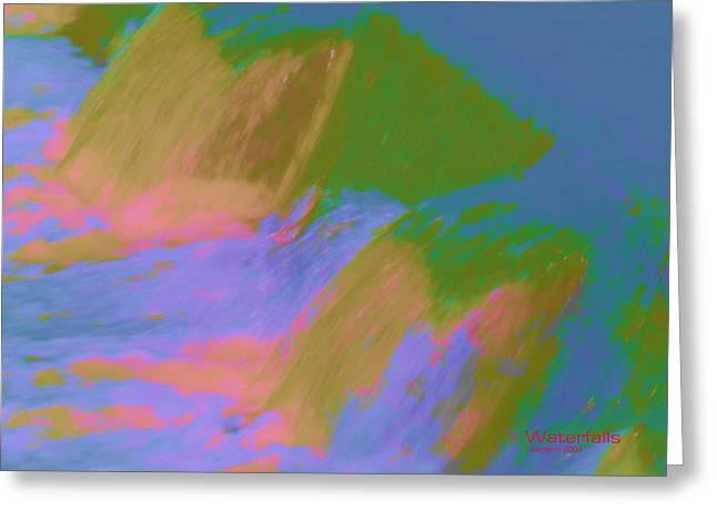 Duke Island Park Greeting Cards - Waterfalls Greeting Card by Warren M Gray