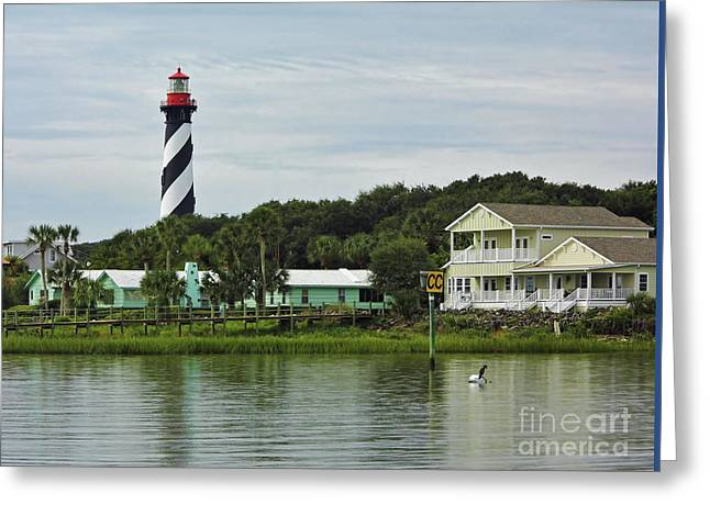 Cedar Key Greeting Cards - Waterfront Beauty Greeting Card by D Hackett