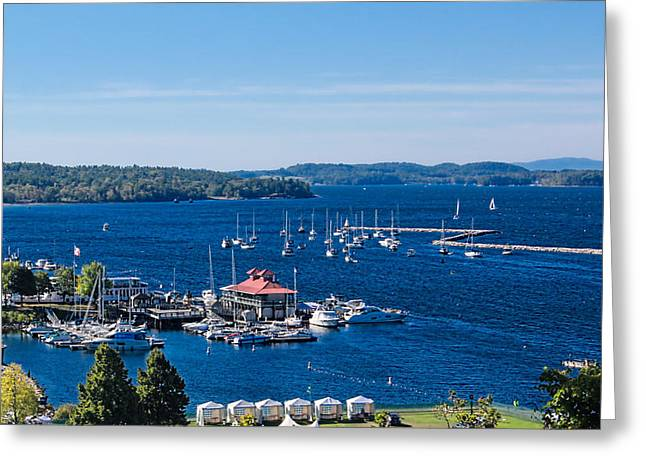 Charlotte Greeting Cards - Waterfront Burlington Vermont Greeting Card by William Alexander