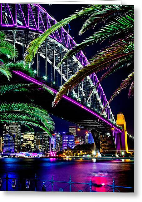 Famous Bridge Greeting Cards - Waterfront Romance Greeting Card by Az Jackson