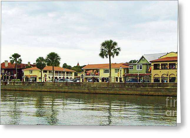 Waterfront St Augustine Greeting Card by D Hackett