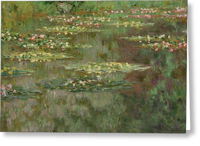 Waterlilies Or The Water Lily Pond Greeting Card by Claude Monet