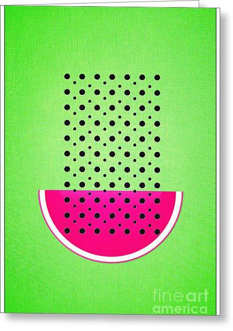 Watermelon Greeting Cards - Watermelon Greeting Card by Binka Kirova