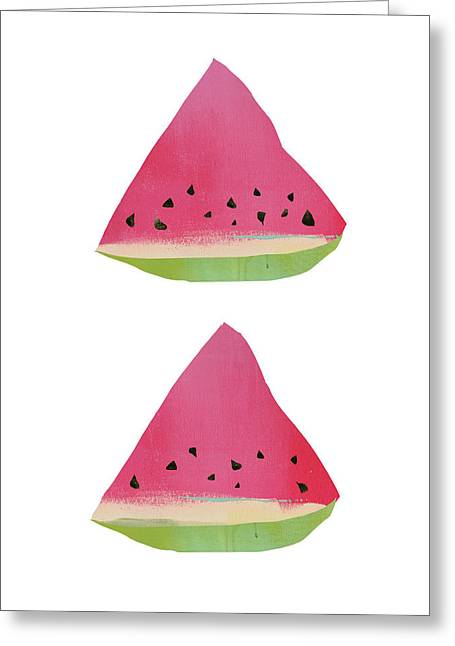Watermelon Print Greeting Card by Jacquie Gouveia