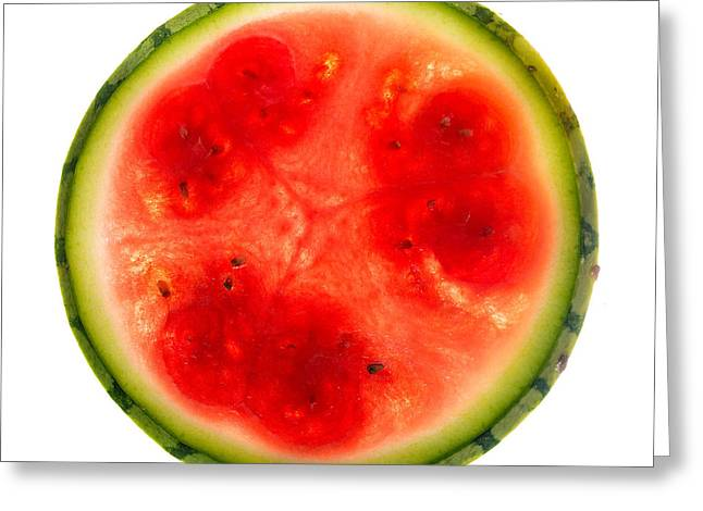 Watermelon Greeting Cards - Watermelon Slice Greeting Card by Steve Gadomski