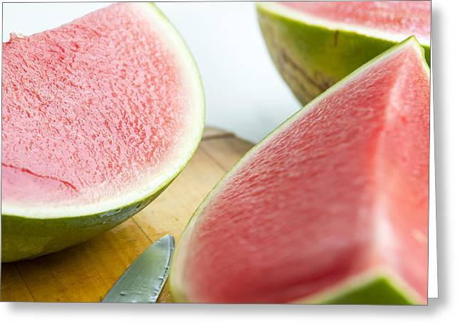 Watermelon Greeting Cards - Watermelon Greeting Card by Tim Hester