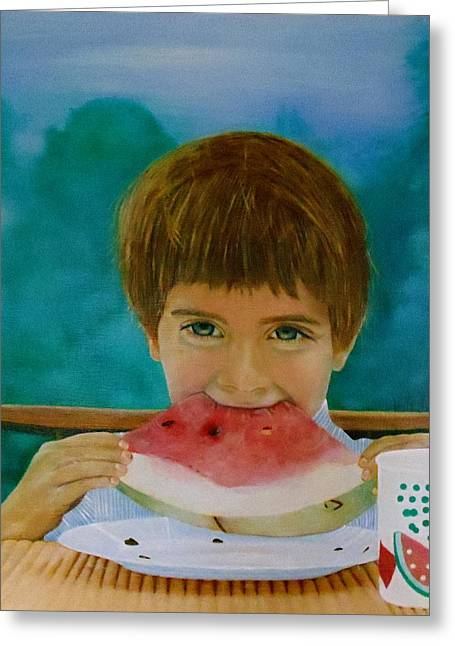 Watermelon Greeting Cards - Watermelon Time Greeting Card by Bruce Ben Pope
