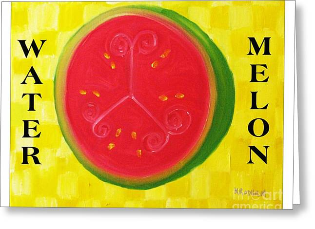 Watermelon Greeting Cards - Watermelon Time Greeting Card by Nathan Rodholm