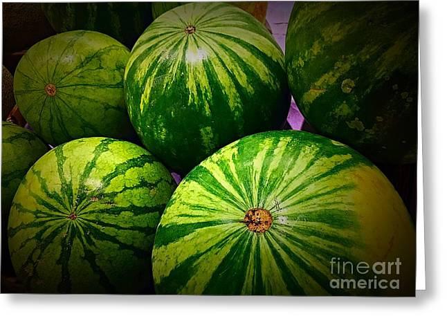 Watermelon Greeting Cards - Watermelon Greeting Card by Bri Lou