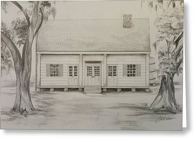 Plantations Drawings Greeting Cards - Waterproof Plantation Greeting Card by John  Duplantis