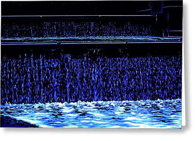 Art Product Greeting Cards - Waters Falling Greeting Card by Debra  Barrington