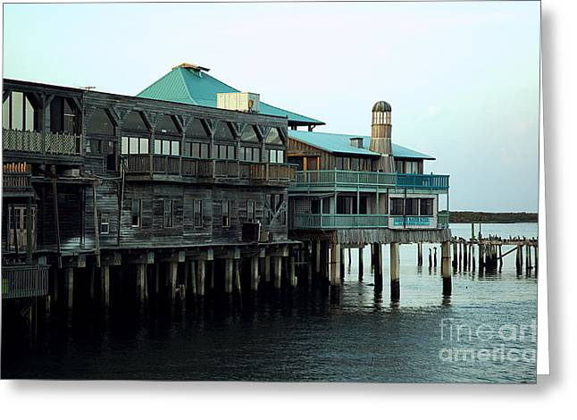 Waterside - Cedar Key Greeting Card by Kathi Shotwell