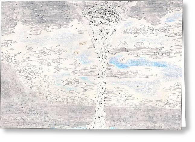The Plateaus Greeting Cards - Waterspout Greeting Card by Al Goldfarb