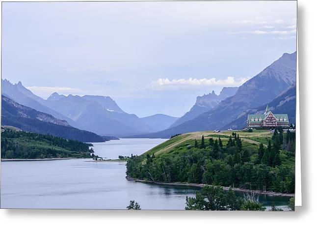 Mountain Valley Greeting Cards - Waterton Valley In Waterton Lakes Greeting Card by Michael Lenaour