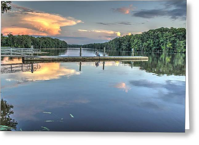 Print Photographs Greeting Cards - Waterway Fishing Greeting Card by Brian Hamilton