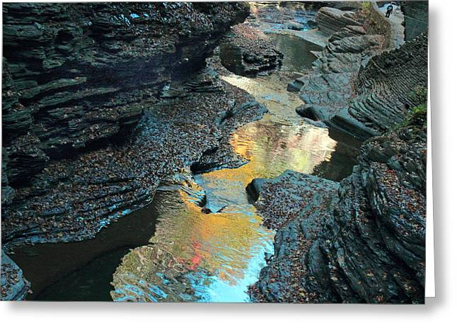 Watkins Glen Gorge  Greeting Card by Jessica Jenney