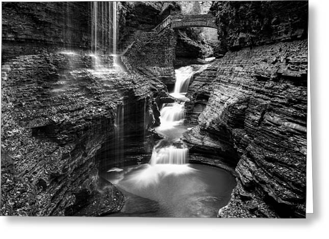 Watkins Glen Rainbow Falls #2 Greeting Card by Stephen Stookey