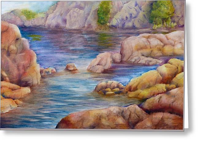 Watson Lake Paintings Greeting Cards - Watson Lake 2 Greeting Card by Melanie Harman