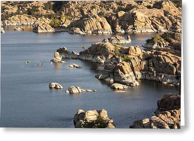 Watson Lake Greeting Cards - Watson Lake Adventures Greeting Card by Jacki Smoldon