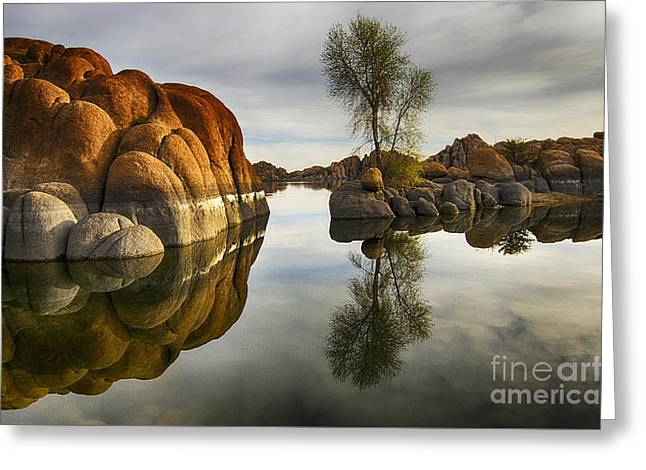 Watson Lake Arizona 12 Greeting Card by Bob Christopher
