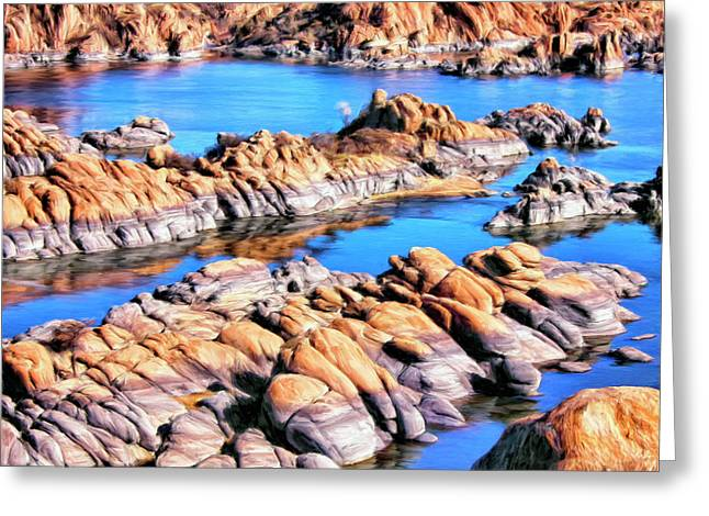 Watson Lake Greeting Cards - Watson Lake at Prescott AZ Greeting Card by Dominic Piperata