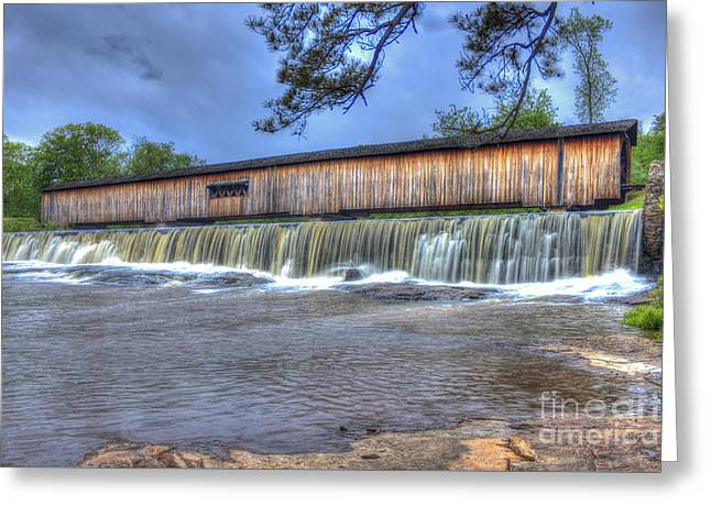 Historic Site Greeting Cards - Watson Mill Covered Bridge Stae Park Greeting Card by Reid Callaway