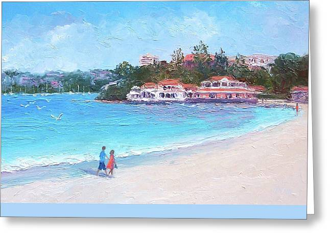 Watsons Bay Sydney Harbour - Doyles On The Beach Restaurant Greeting Card by Jan Matson
