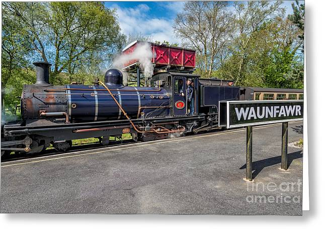 Vintage Greeting Cards - Waunfawr Station  Greeting Card by Adrian Evans