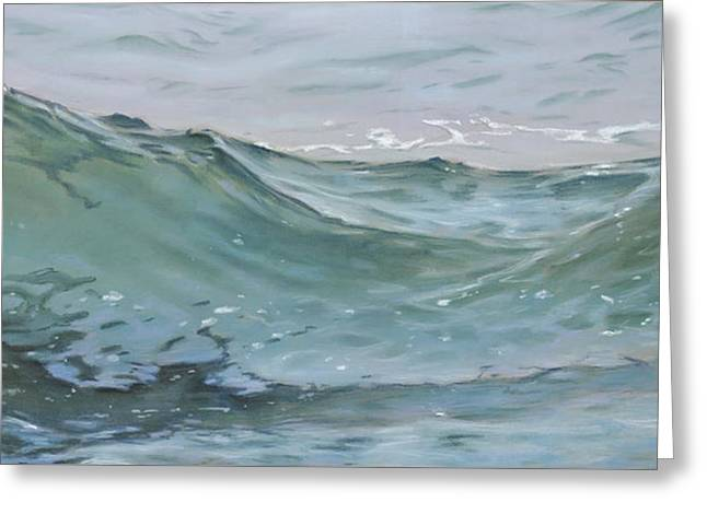Waves Pastels Greeting Cards - Wave 74 Greeting Card by Christopher Reid