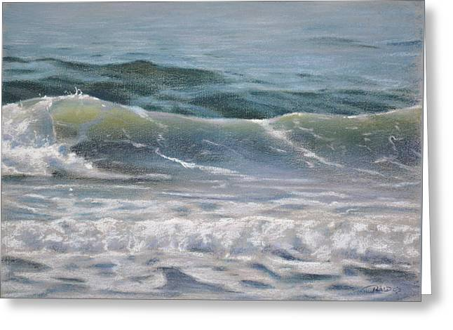 Wave Greeting Card by Christopher Reid