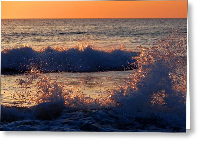 Wishes Greeting Cards - Wave Dance Greeting Card by Dianne Cowen