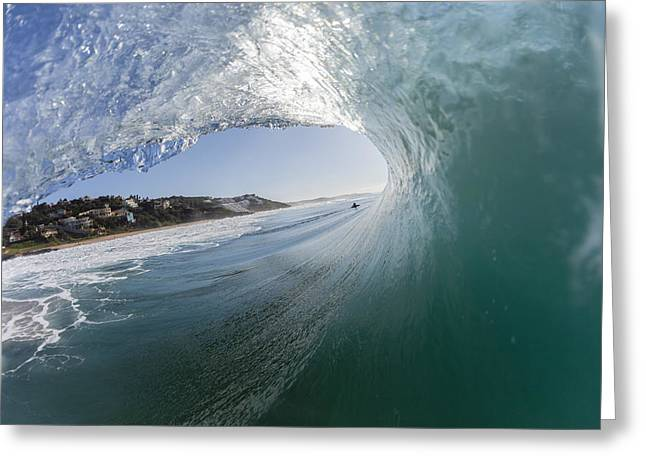 Surfing Photos Greeting Cards - Wave Inside Out Greeting Card by Chris VanLennepPhoto