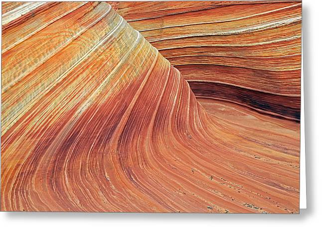 Warp Greeting Cards - Wave Greeting Card by Johnny Adolphson