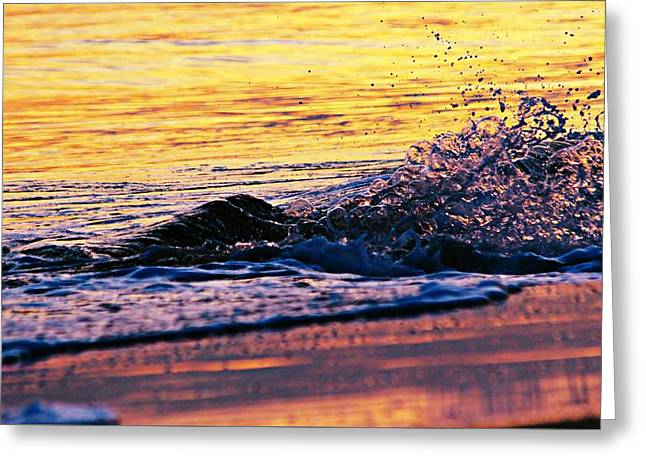 Reflecting Water Greeting Cards - Wave Greeting Card by Kathy Henderson
