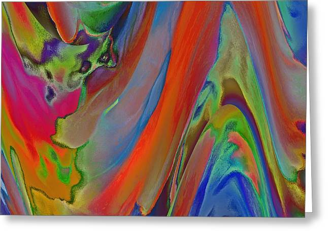 Abstract Digital Digital Greeting Cards - Wave of Emotion Greeting Card by Kathy Franklin