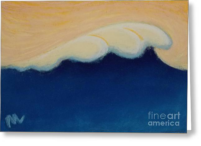Atlantic Beaches Pastels Greeting Cards - Wave Portrait No. 132 Greeting Card by Marie  Marfia