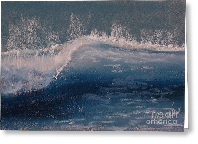 Atlantic Beaches Pastels Greeting Cards - Wave Portrait Number Eight Greeting Card by Marie  Marfia