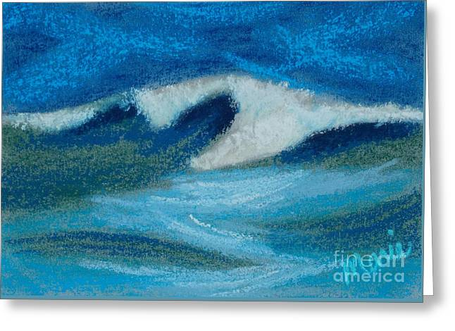 Atlantic Beaches Pastels Greeting Cards - Wave Portrait Number Eighteen Greeting Card by Marie  Marfia