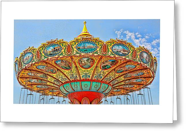 Amusements Greeting Cards - Wave Runner Artwork Greeting Card by Allen Beatty
