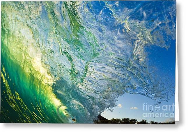Shorebreak Greeting Cards - Wave Splash Greeting Card by MakenaStockMedia