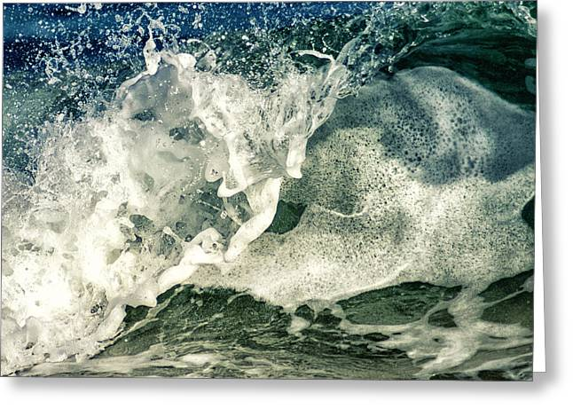 Shorebreak Greeting Cards - Wave1 Greeting Card by Stylianos Kleanthous