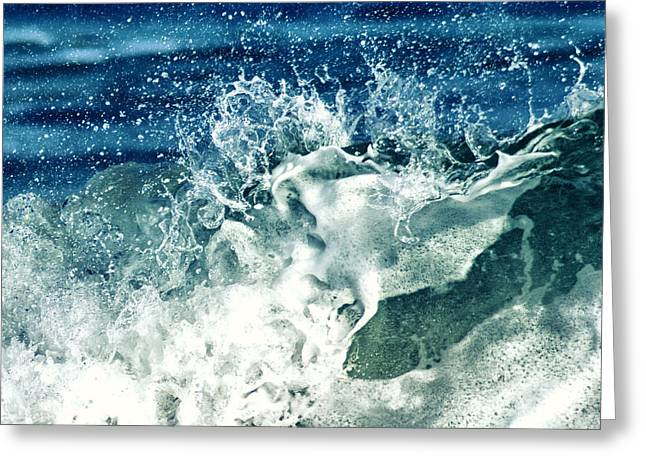 Shorebreak Greeting Cards - Wave2 Greeting Card by Stylianos Kleanthous