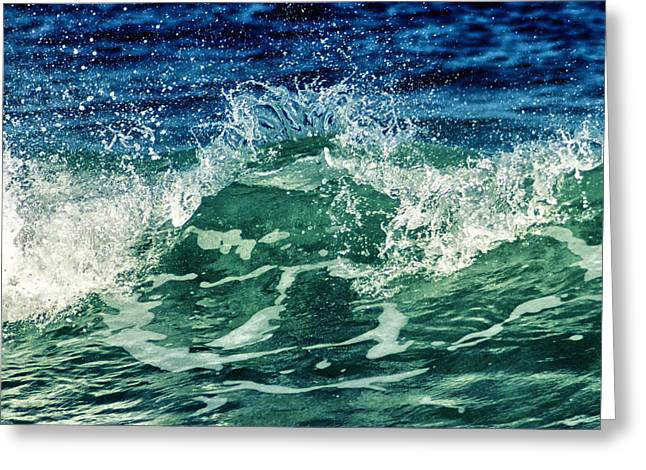 Summer Storm Greeting Cards - Wave3 Greeting Card by Stylianos Kleanthous