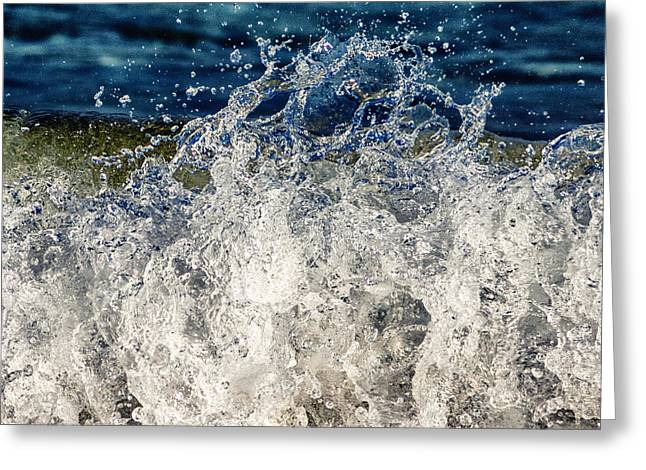 Shorebreak Greeting Cards - Wave4 Greeting Card by Stylianos Kleanthous