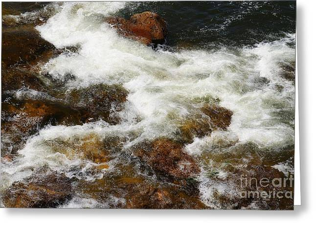 West Fork Greeting Cards - Waved Greeting Card by Lauren Hunter