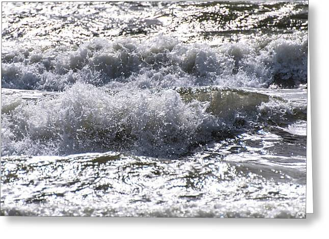 Crushing Stones Greeting Cards - Waves Greeting Card by Alex Hiemstra