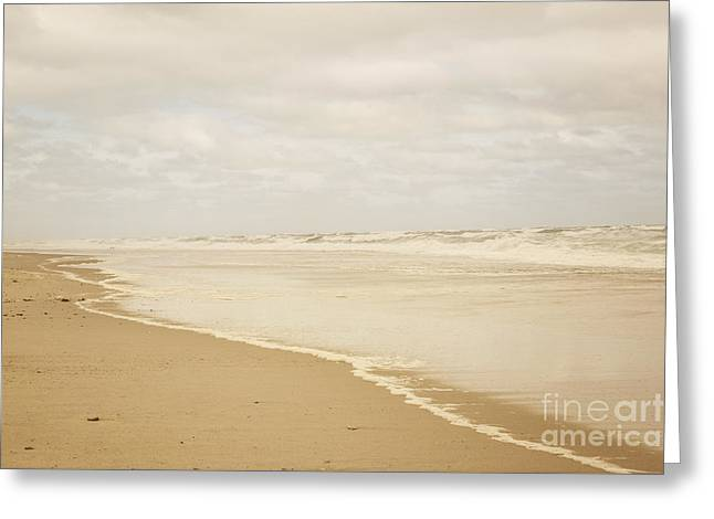 Waves Along The Shoreline Greeting Card by Juli Scalzi